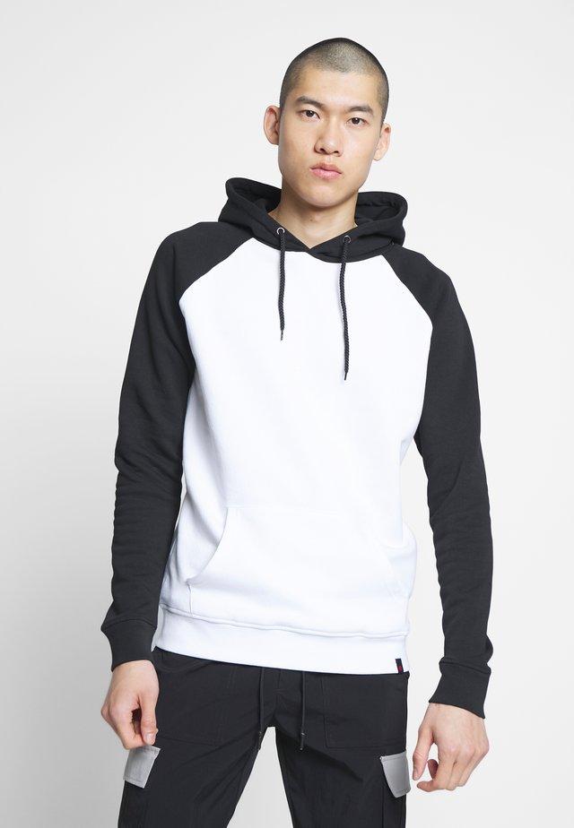 AMON - Hoodie - black/white