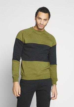 ALPI - Sweater - olive/black/olive