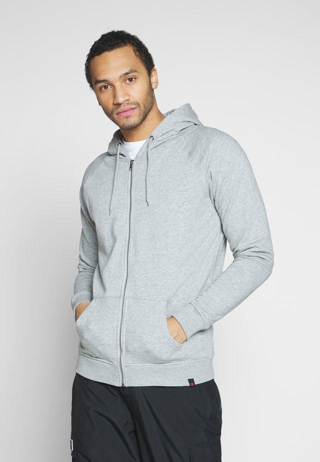 MANDO - Zip-up hoodie - mottled light grey