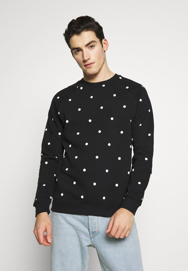 PARDO DOT CREW - Sudadera - black/white