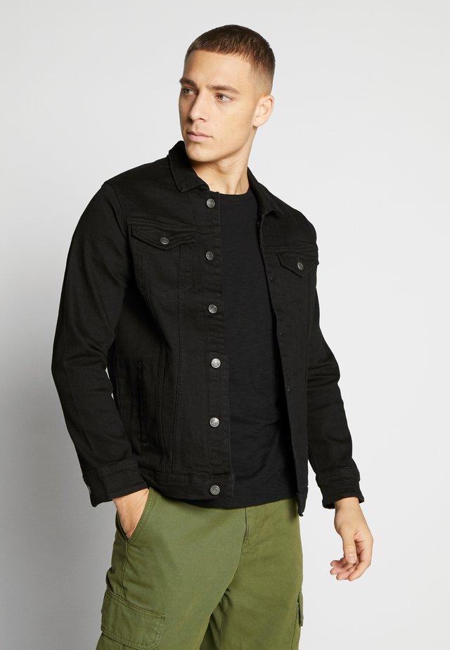 KASH JACKET - Denim jacket - black dot