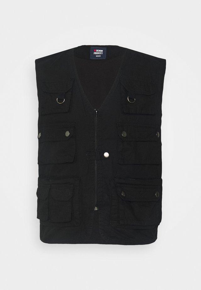 CANA VEST - Waistcoat - black