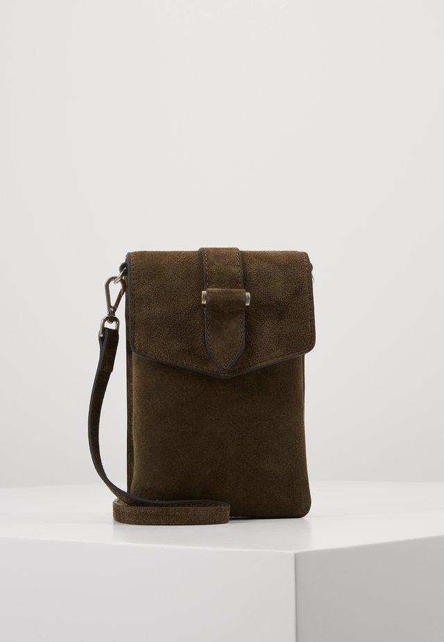 GINA MOBILE CROSS OVER - Borsa a tracolla - suede army