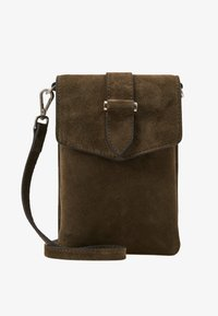 Decadent Copenhagen - GINA MOBILE CROSS OVER - Torba na ramię - suede army - 1