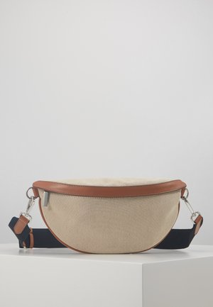 BINDI CANVAS BUM BAG - Rumpetaske - cognac
