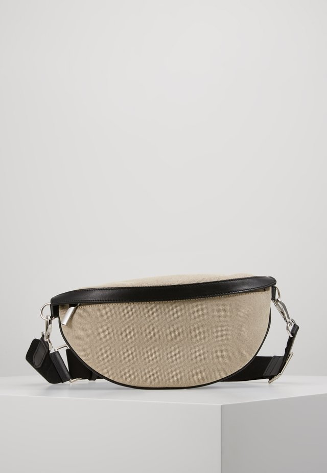 BINDI CANVAS BUM BAG - Ledvinka - black