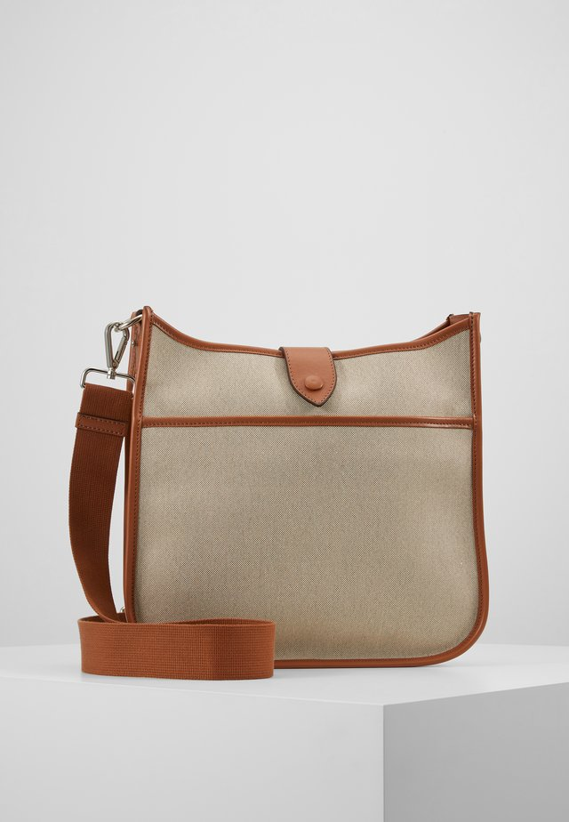 JOY CANVAS CROSS-OVER - Borsa a tracolla - cognac