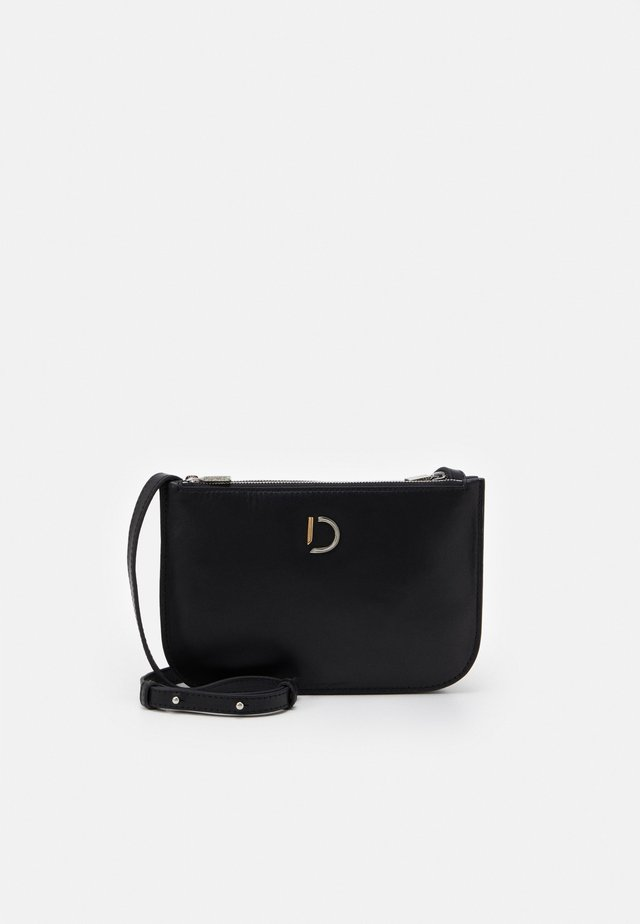 MARCIA SMALL DOUBLE BAG - Across body bag - nappa black