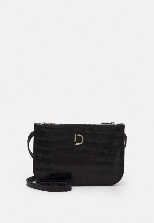 MARCIA SMALL DOUBLE BAG - Across body bag - black