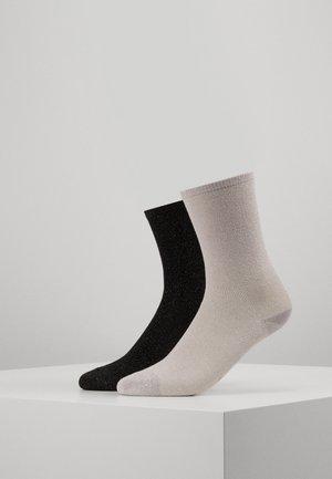 MEI SOFT 2 PACK - Socks - black/pale pink