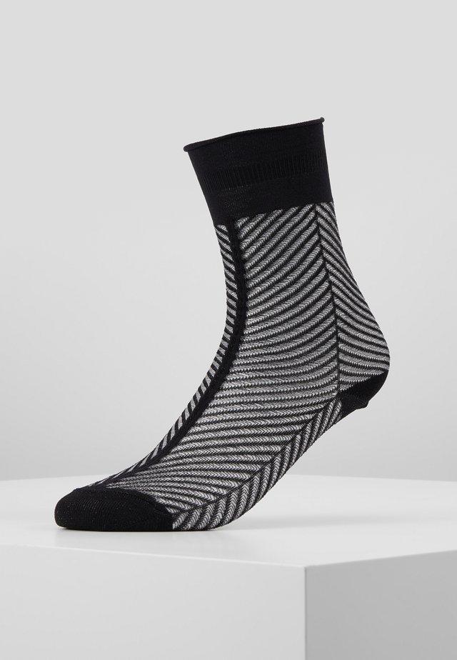 HEDVIG HERRINGBONE - Ponožky - black
