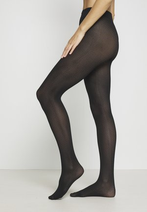 PETRINA HERRINGBONE - Tights - black