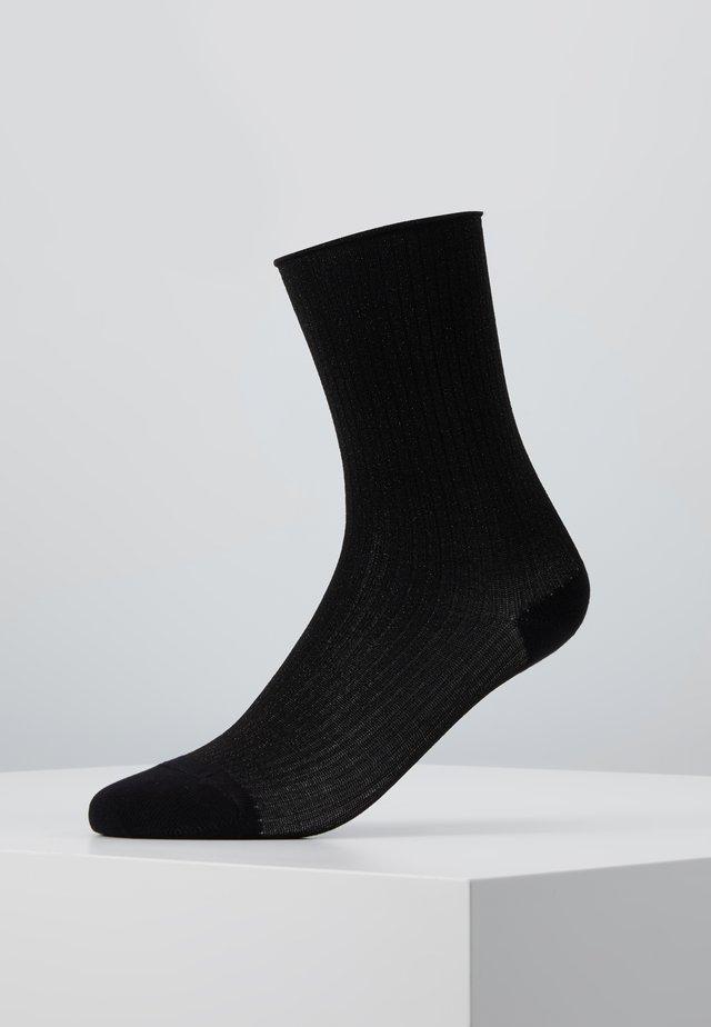MALENE GLITTER - Ponožky - black