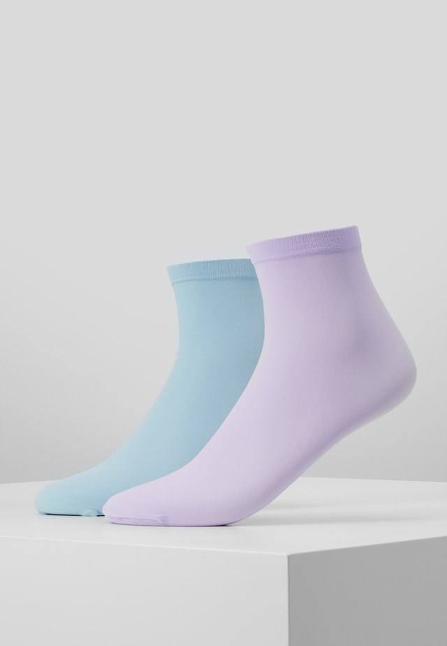 LINE POP SOCKS 2 PACK - Skarpety - pastel purple/pastel blue