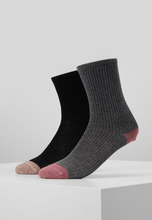 MALENE SOFT 2 PACK - Sokken - black/rose/grey/old rose