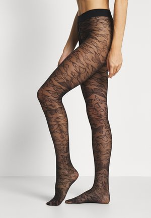 KRISTINE BUTTERFLY - Tights - black