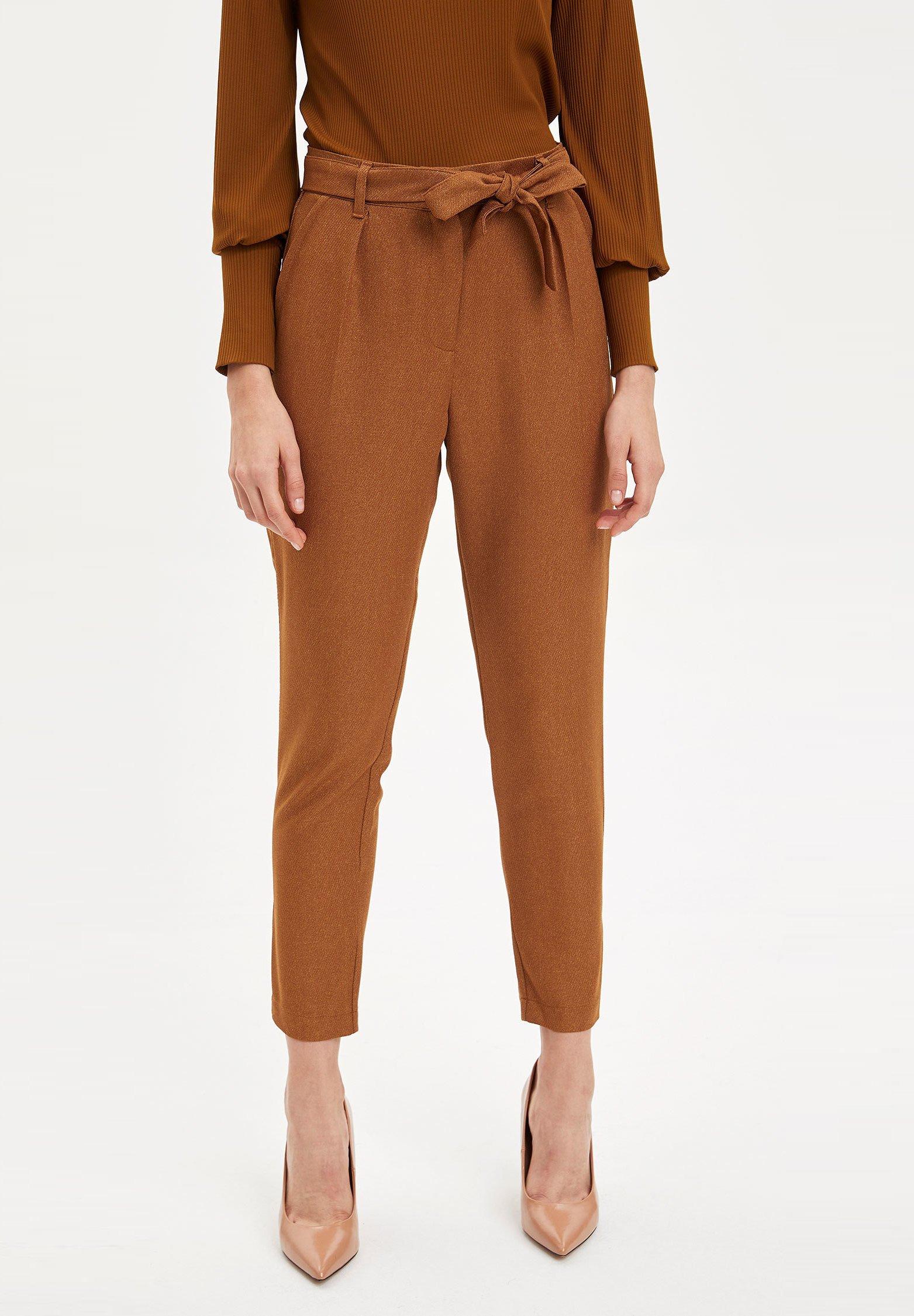 DeFacto Spodnie materiałowe - brown