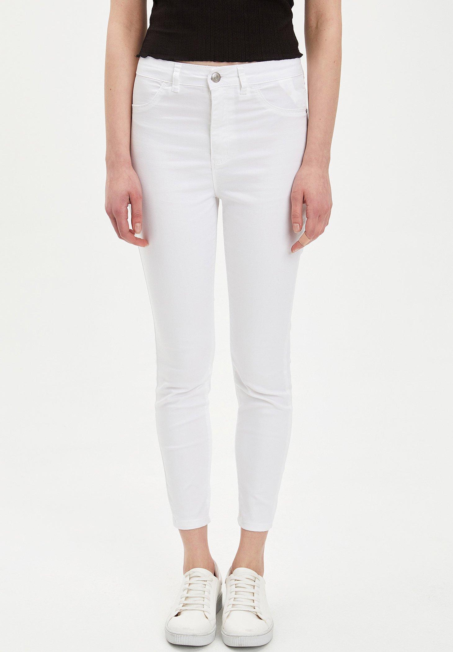 DeFacto Spodnie materiałowe - white