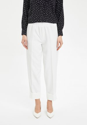 Pantalon classique - ecru