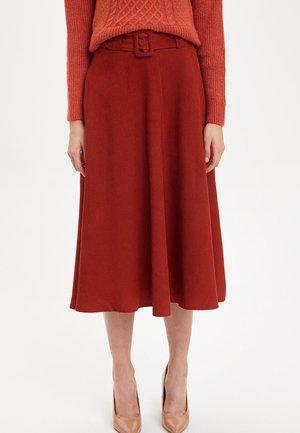 ARCHED WEAVING - A-line skirt - bordeaux