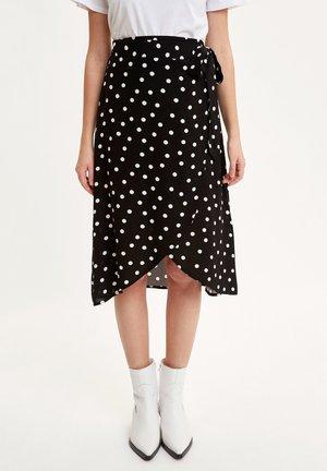 DEFACTO WOMAN BLACK - Wrap skirt - black