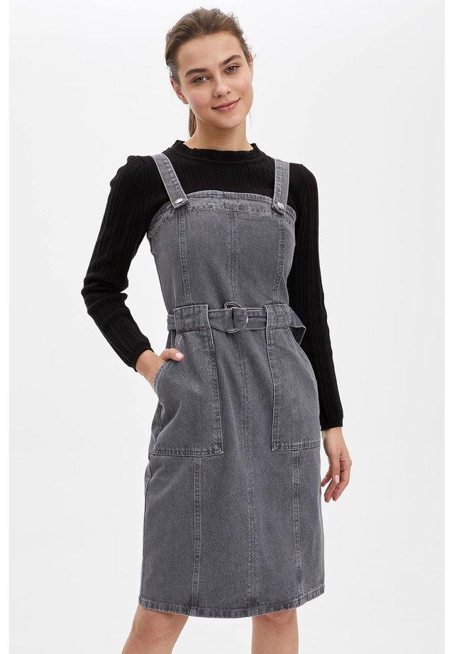 Spijkerjurk - grey