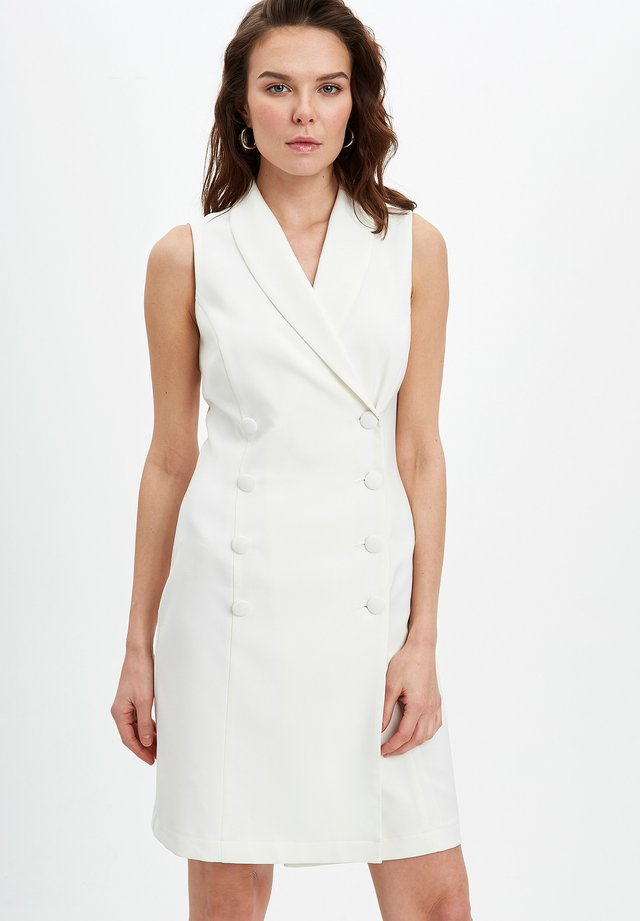 DEFACTO  WOMAN  - Shift dress - ecru