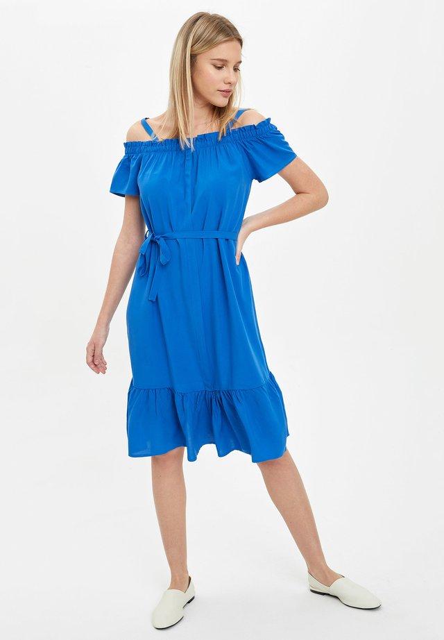 DEFACTO WOMAN SUMMER  BLUE - Vestido informal - blue