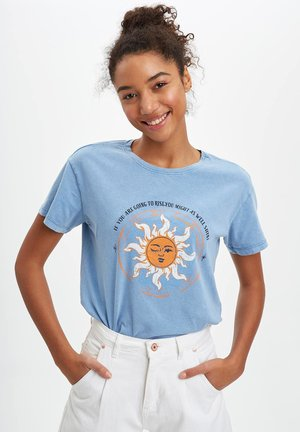 T-shirt z nadrukiem - indigo