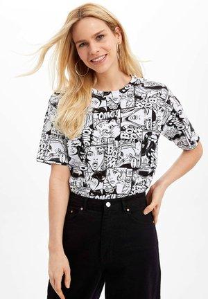 DEFACTO  WOMAN  - Print T-shirt - white
