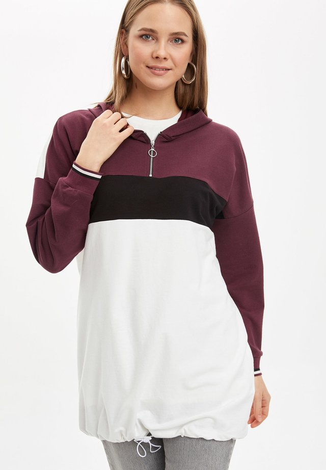 Jersey con capucha - bordeaux