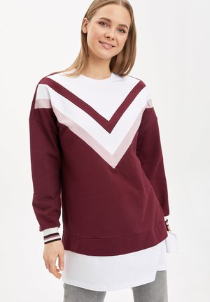 Långärmad tröja - bordeaux