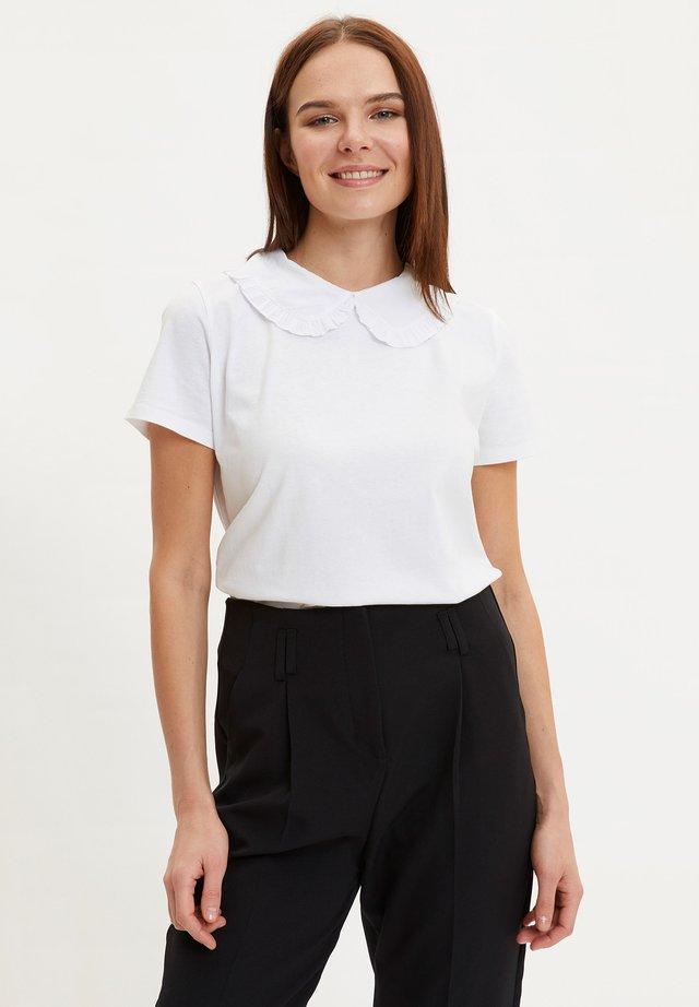 DEFACTO WOMAN ECRU - T-shirt basic - ecru