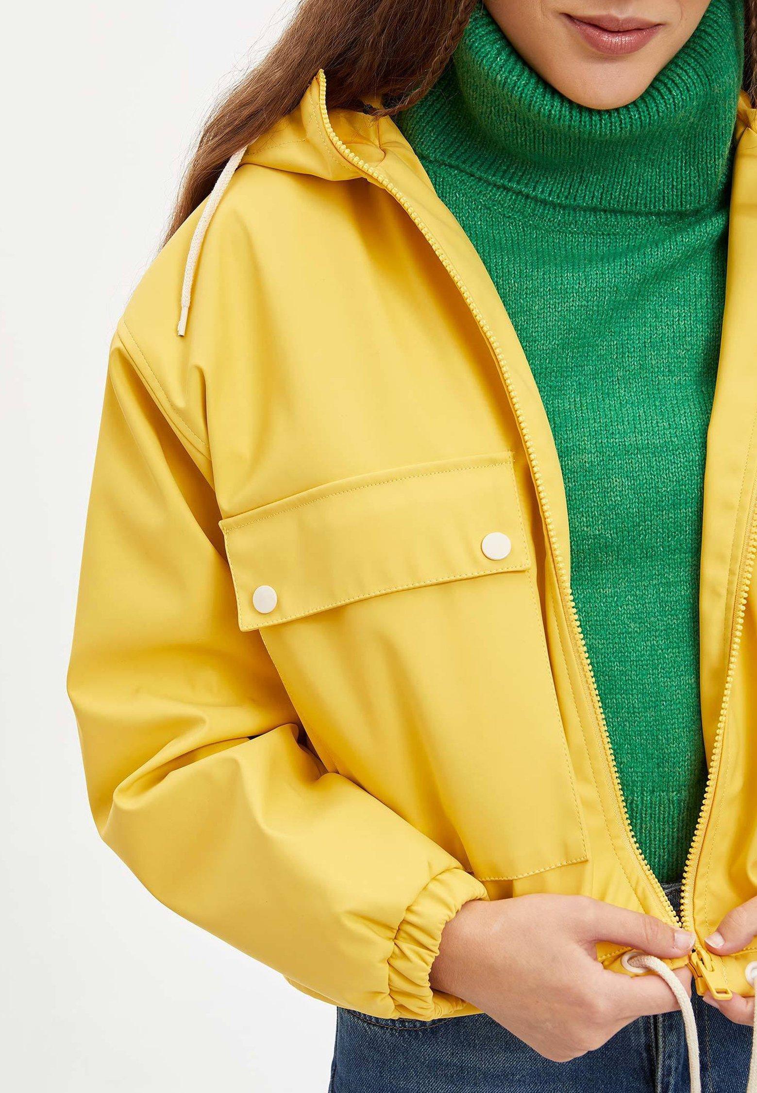 DeFacto Kurtka przeciwdeszczowa - yellow