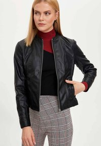 DeFacto - Faux leather jacket - black - 0