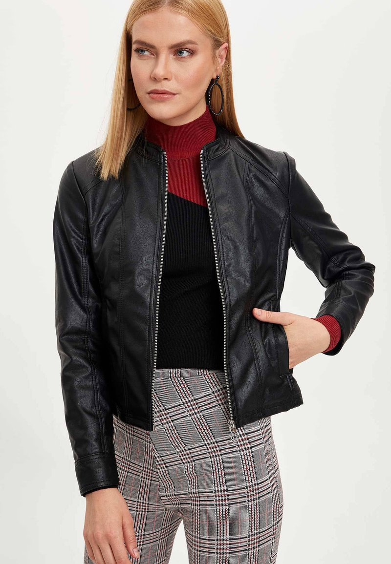 DeFacto - Faux leather jacket - black