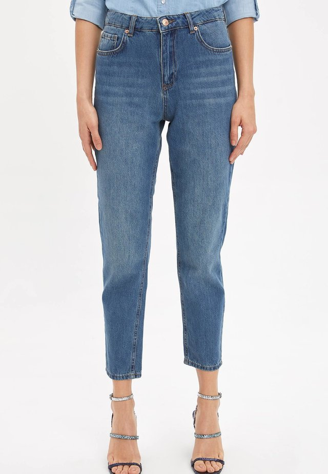 LINE MOM - Jeansy Straight Leg - blue