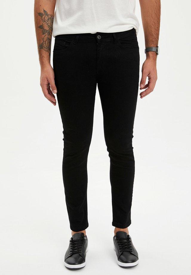 Jeansy Slim Fit - black
