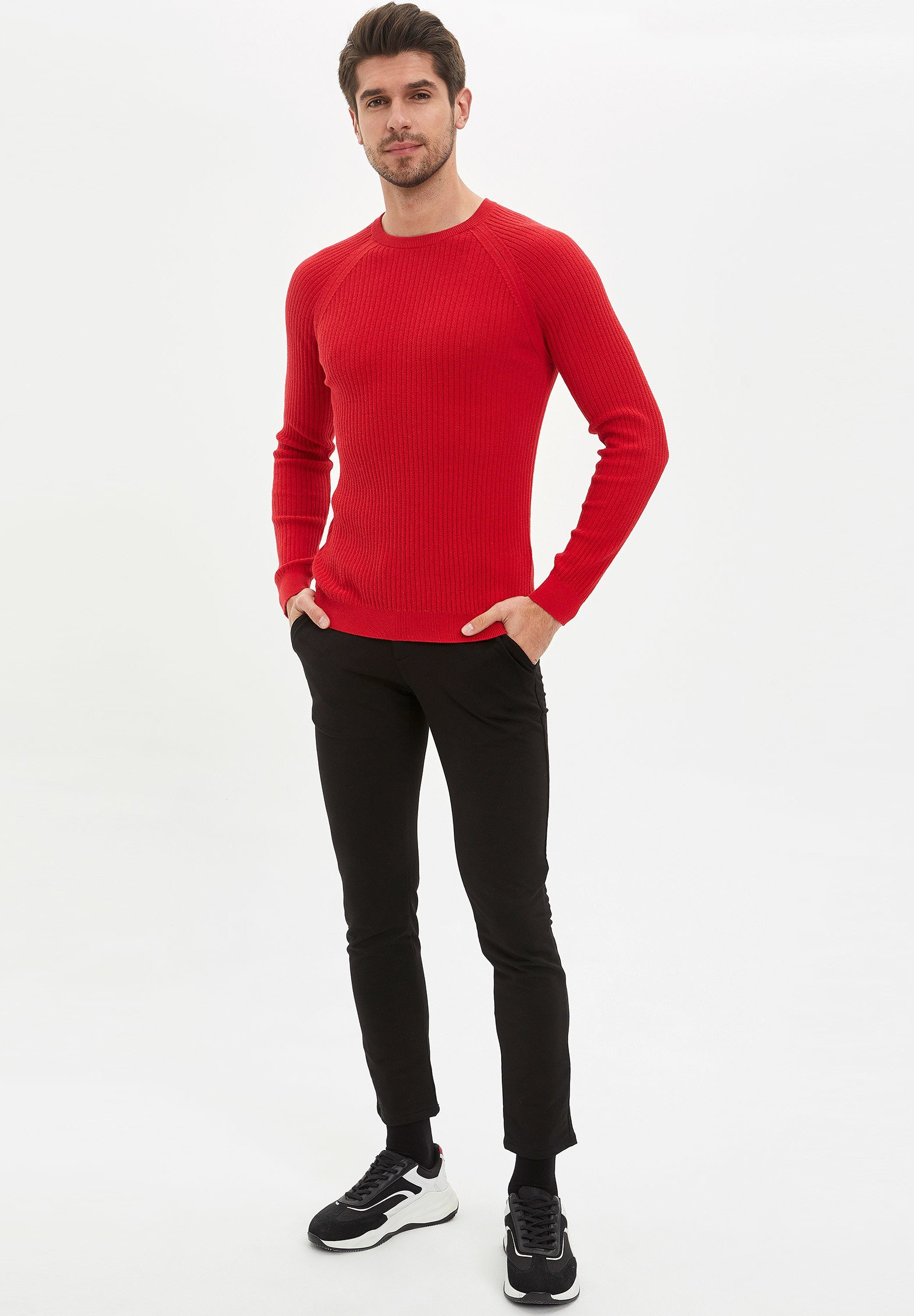 DeFacto Pullover - red