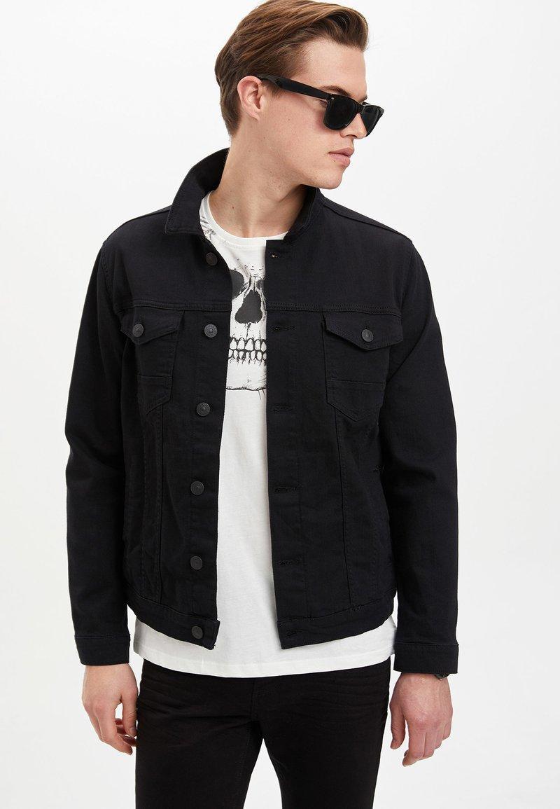 DeFacto - Denim jacket - black