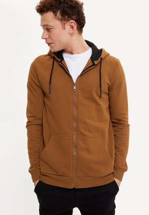 Zip-up hoodie - brown