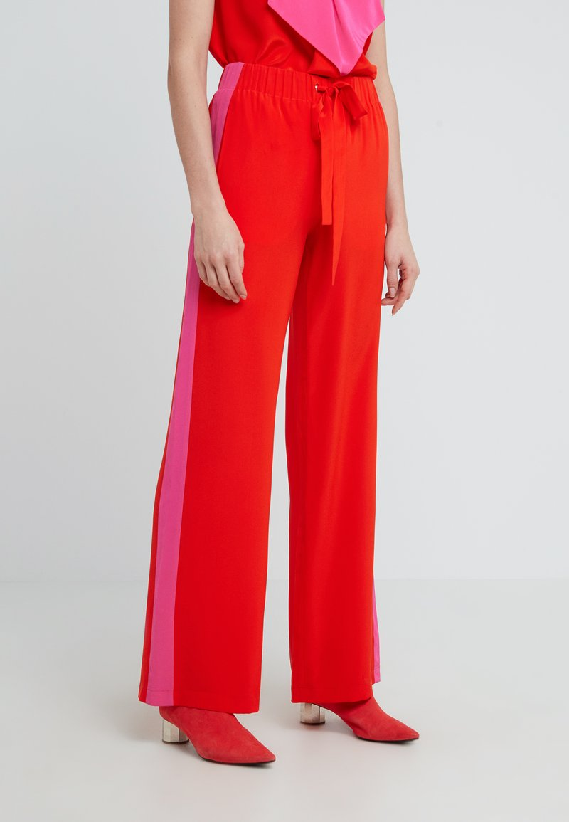 Diane von Furstenberg - ELLINGTON - Trousers - flamenco/manic pink