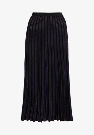 KLARA - A-snit nederdel/ A-formede nederdele - black/alex navy/tourmaline