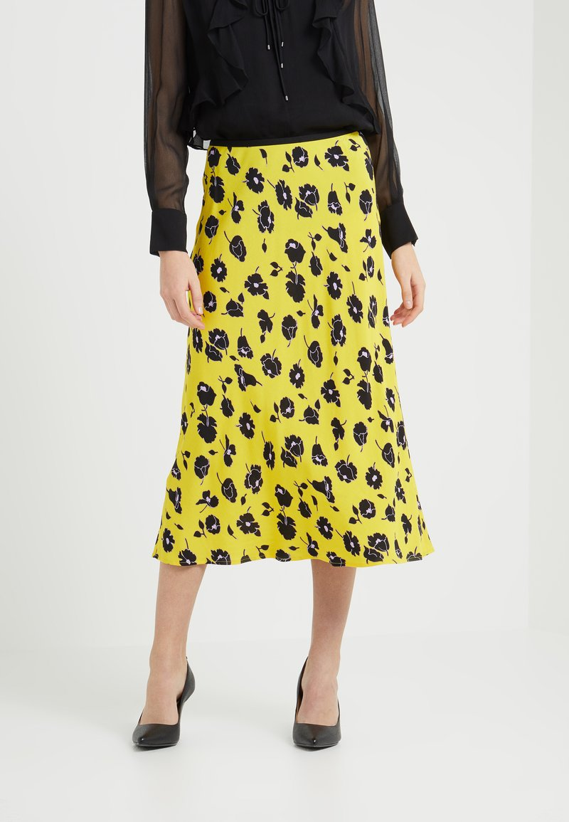 Diane von Furstenberg - MAE - A-line skirt - rose showers goldenrod