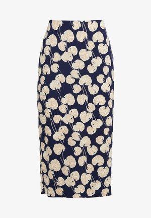 KARA - Spódnica ołówkowa  - kimono leaf /small new navy