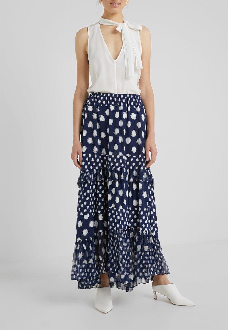 Diane von Furstenberg - LORA - Maxi skirt - dark blue