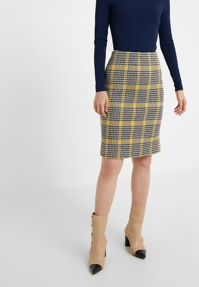 LENNA - Pencil skirt - black/ivory/couch