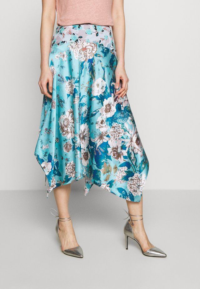 AILEEN - A-line skirt - lilac/shadow double