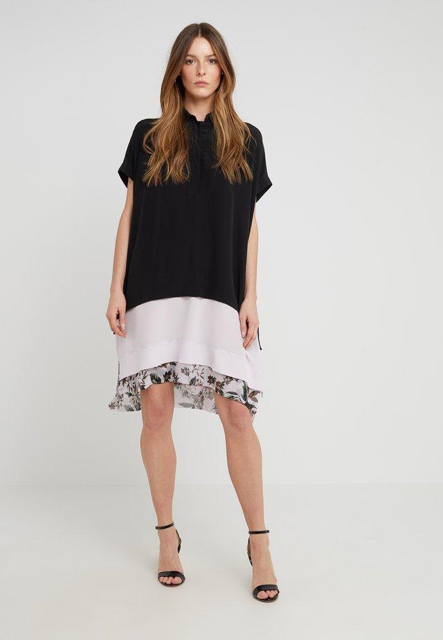 HATSU NEW - Košilové šaty - black/multi