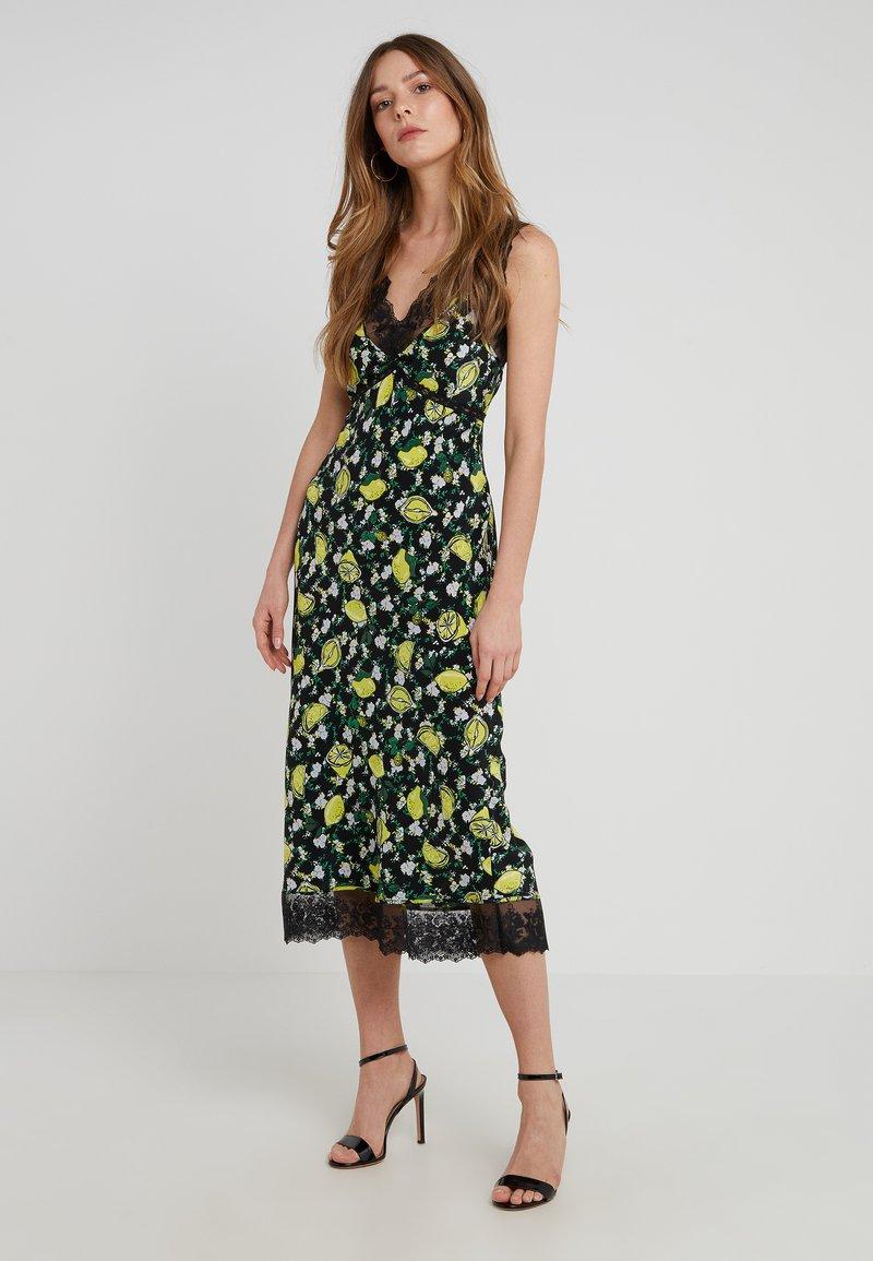 Diane von Furstenberg - ISSEY - Day dress - lemons/black